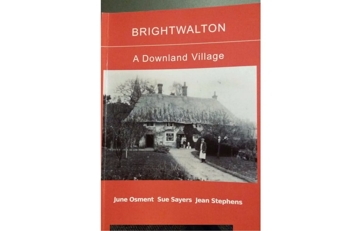 Picture of our the beautiful book written by Sue Sayers that details the history of Brightwalton. Written in 2002.